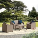 Trieste Rattan Lounge Set in Cappuccino Brown