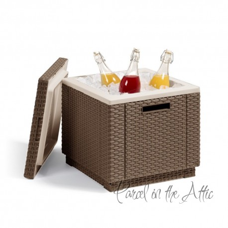 Messina Rattan Cool Box in Light Brown