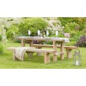 Elche Solidwood Garden Set (Table & 2 Benches)