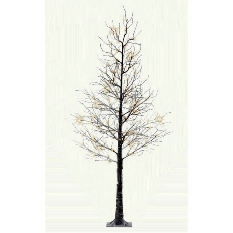 Pre-Lit Christmas Tree 240cm (8ft) with Snow Frosted Branches - 120 Cool White Led