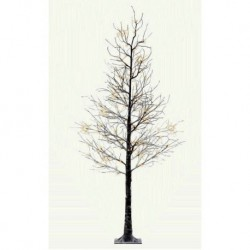 Pre-Lit Christmas Tree 125cm (4ft) with Snow Frosted Branches - 48 Warm White Led