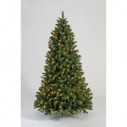 150cm/5ft Pre-Lit Wellington Fir Artificial Christmas Tree