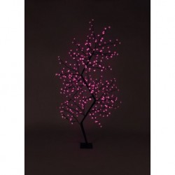 210cm/7ft Zig Zag Cherry Blossom Tree - 300 Pink LED Fairy Lights