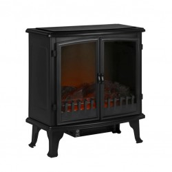 Electric Stove Heater with Flame Effect - Black Wide