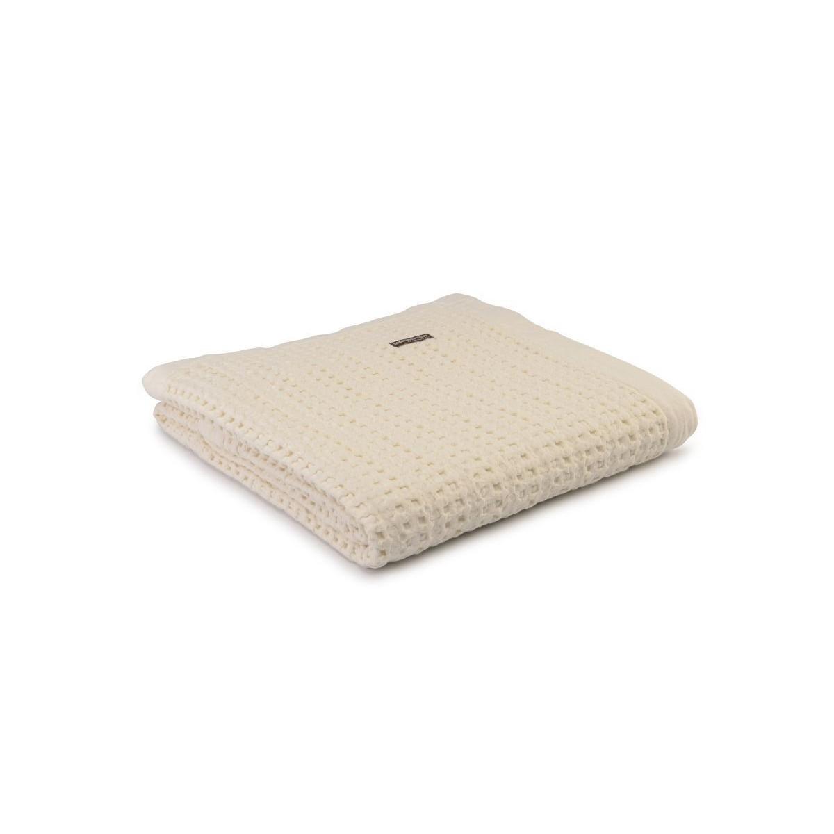 Harris - Stonewash Throw in Cream - 130x170cm