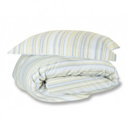 Marazion Woven Duvet Cover in Lime - Single 135x200cm
