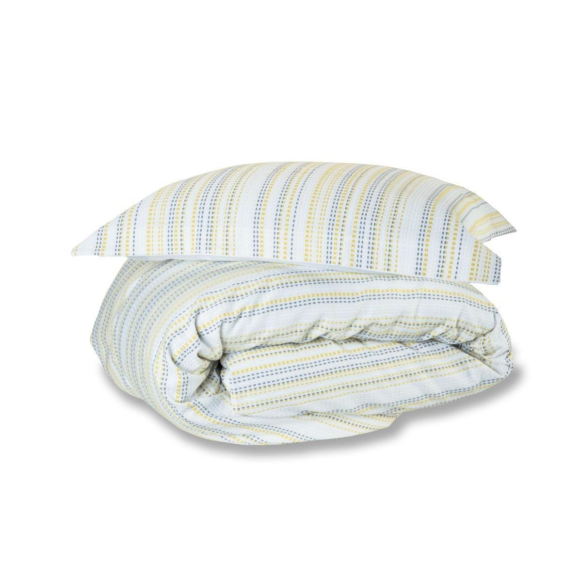 Marazion Woven Duvet Cover in Lime - Pillowcase 50x75cm