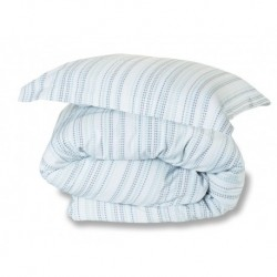 Marazion Woven Duvet Cover in Duck - Pillowcase 50x75cm