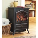 Electric Stove Heater with Flame Effect - Black