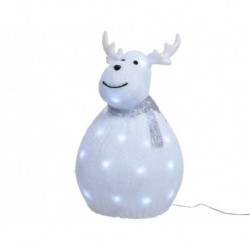 LED Acrylic Standing Fat Reindeer Outdoor - Cool White LED