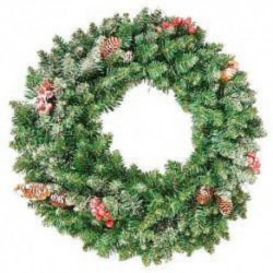 Christmas Wreath with Berries and Pinecones (40cm)