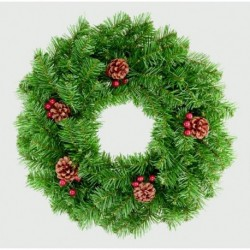 Christmas Wreath with Berries and Pinecones (50cm)