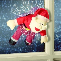Animated Santa Breaking Through a Window Christmas Display Decoration