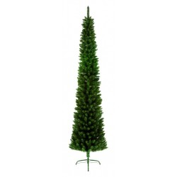 Slimline Pencil Artificial Christmas Green Pine Tree - 200cm