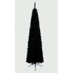Slimline Pencil Artificial Christmas Black Pine Tree - 200cm