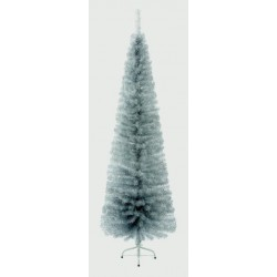 Slimline Pencil Artificial Christmas Silver Pine Tree - 200cm