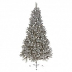 210cm/7ft Artifical Christmas Fir Tree with Silver Tips