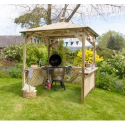 Albacete Garden Gazebo Pressure treated Wood Shelter