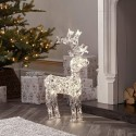 90cm/3ft Acrylic Standing Reindeer Outdoor - Warm White LED