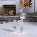 Christmas Outdoor Large 60cm/2ft Acrylic Standing Reindeer Pre-lit with Cool White LEDs Decoration