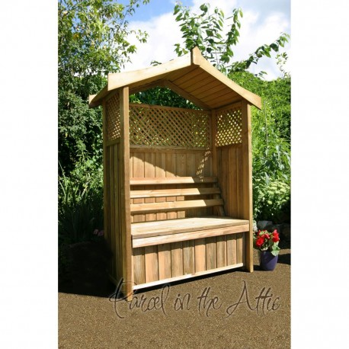 Garden Arbour with Storage Box and Trellis