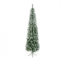 Slimline Pencil Artificial Christmas Green Pine Tree with Flocked tips - 200cm