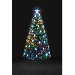 Fibre Optic Victorian Artificial Christmas Tree with 60 LED Lanterns - 180cm / 6ft