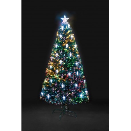 120cm Fibre Optic Victorian Artificial Christmas Tree with 32 LED Lanterns