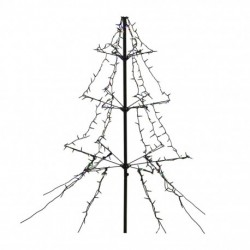 1.35m Easy Set Up Pre Lit Outdoor Tree 240 Multi-colour White LED's Twinkle Multi Function