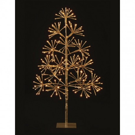 Gold Starburst Flashing Tree with 256 Warm White Led Light - 90cm
