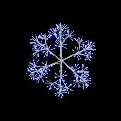 Starburst Flashing Snowflake with 300 Cool White Led Light