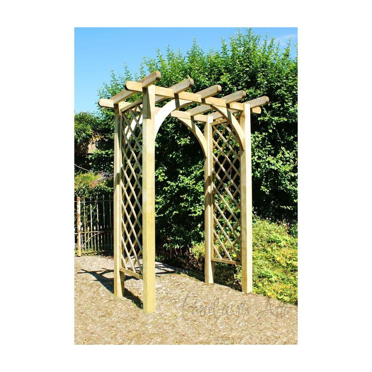 Flat Top Garden Arch Trellis