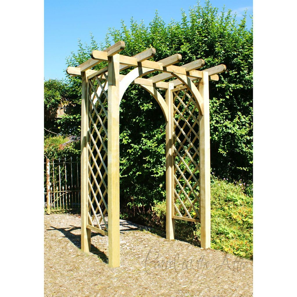 Flat Top Garden Arch With Trellis Parcel In The Attic