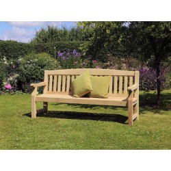 Elda Heavy Duty Solid Wood 4 Seat Garden Bench