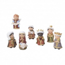Christmas Nativity Set With 7 Figures Hand painted