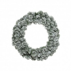 Snow Effect Christmas Wreath (50cm)