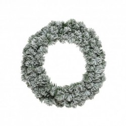 Snow Effect Christmas Wreath (60cm)