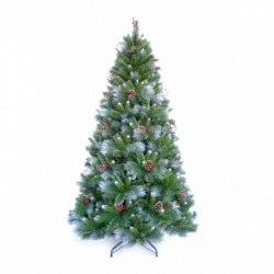 180cm/6ft Avatika Christmas Artificial Tree with Frosted tips, Pine Cones and Berries