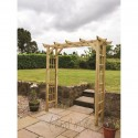 Flat Top Garden Arch with Trellis