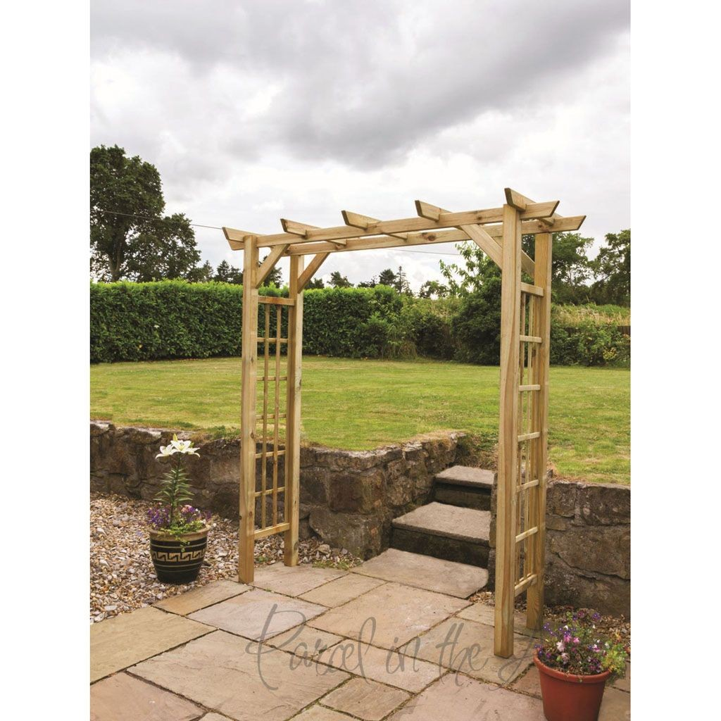 Flat Top Garden Arch With Trellis Parcel In The Attic Lifestyle Home Living