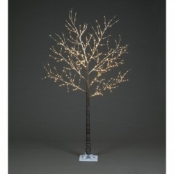 Pre-Lit Christmas Copper Wire Frosted Brown Tree 180cm/6ft height with 600 Warm White Micro Led