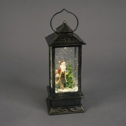 Light Up Christmas Globe Water Lantern with Santa Scene