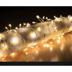 Christmas Fairy String Lights - 200 Warm White Cluster Micro LED Lights - indoor or outdoor use