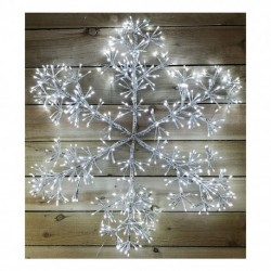 Christmas Starburst Flashing 90cm Snowflake with 660 Cool White Led Light - Indoor or outdoor use