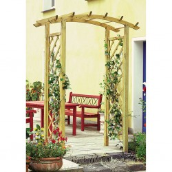 Curved Top Garden Arch with Trellis