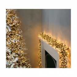 3000 Ultra-Bright Warm White LED Outdoor Fairy String Twinkle Cluster Lights - 37.5m long - Outdoor or indoor use