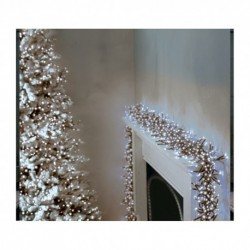 3000 Ultra-Bright Cool White LED Outdoor Fairy String Twinkle Cluster Lights - 37.5m long - Outdoor or indoor use
