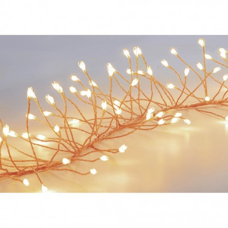 430 Warm White Garland Cluster Micro ultra bright Outdoor LED Lights - Rose Gold pin wire String