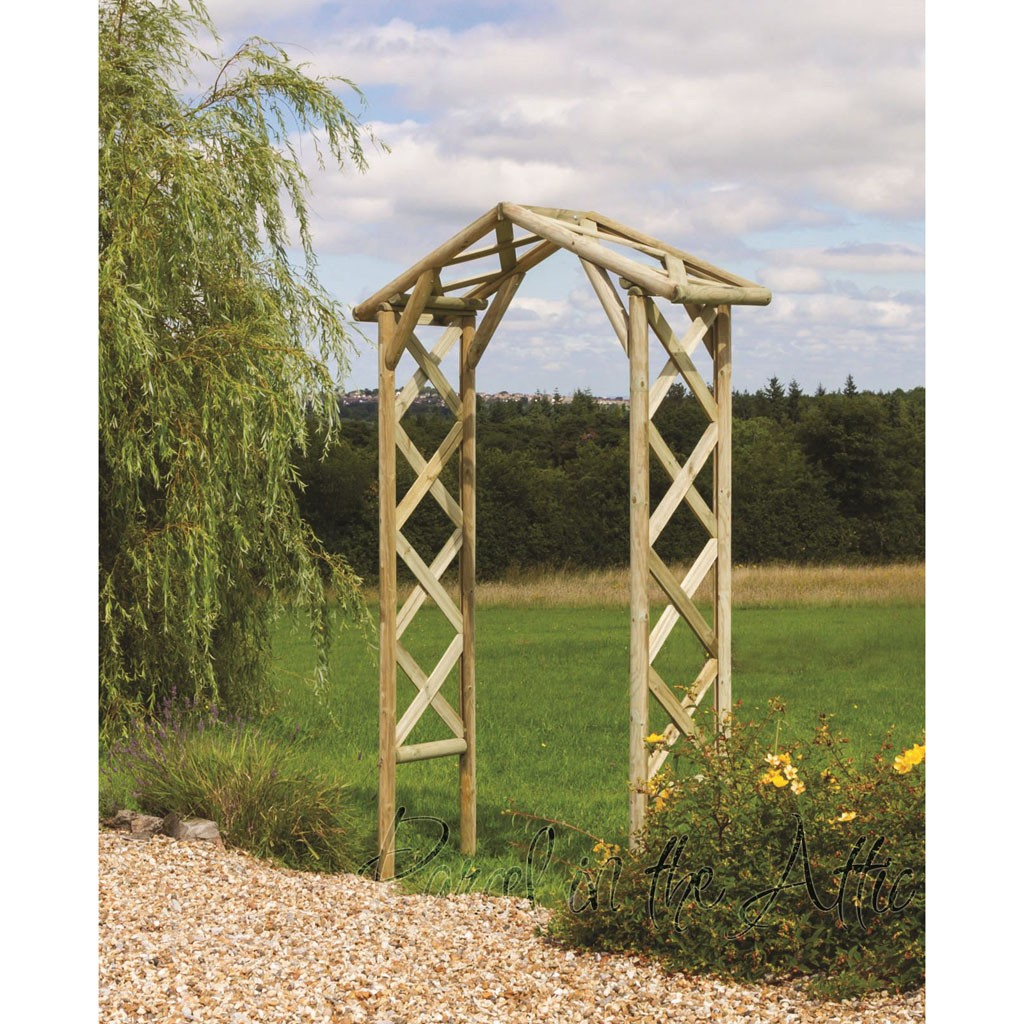 Rustic Garden Arch With Trellis Parcel In The Attic