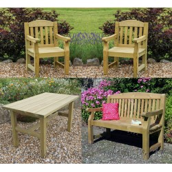 Heavy Duty Solid Wood Garden Set